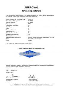 la certification QUALICOAT de Arsonsisi Istanbul pour la serie t600