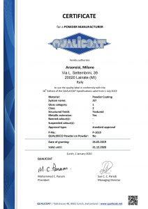 Toz kaplama Qualicoat sertifikaları - J57 Polyesterler serisi
