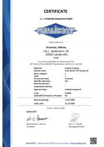 Toz kaplama Qualicoat sertifikaları - Y57 Polyesterler serisi