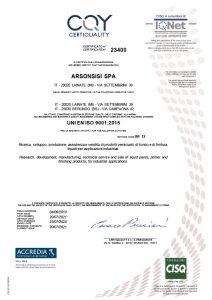 arsonsisi ISO 90012015 liquid coatings